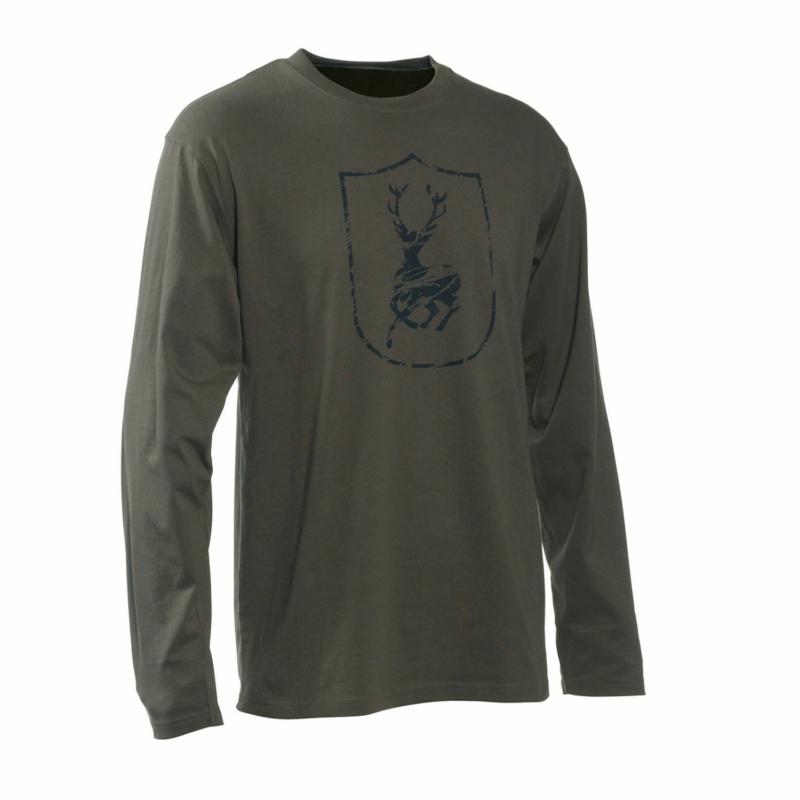 Deerhunter póló - Deerhunter logóval ellátva L/S sötét