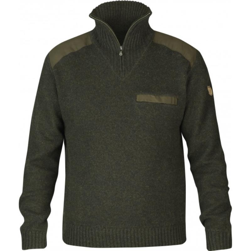 Fjällräven pulóver - Koster Sweater olajzöld
