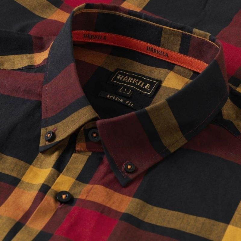 Harkila piros/fekete kockás ing - Härkila Amlet L/S shirt Red/Black check