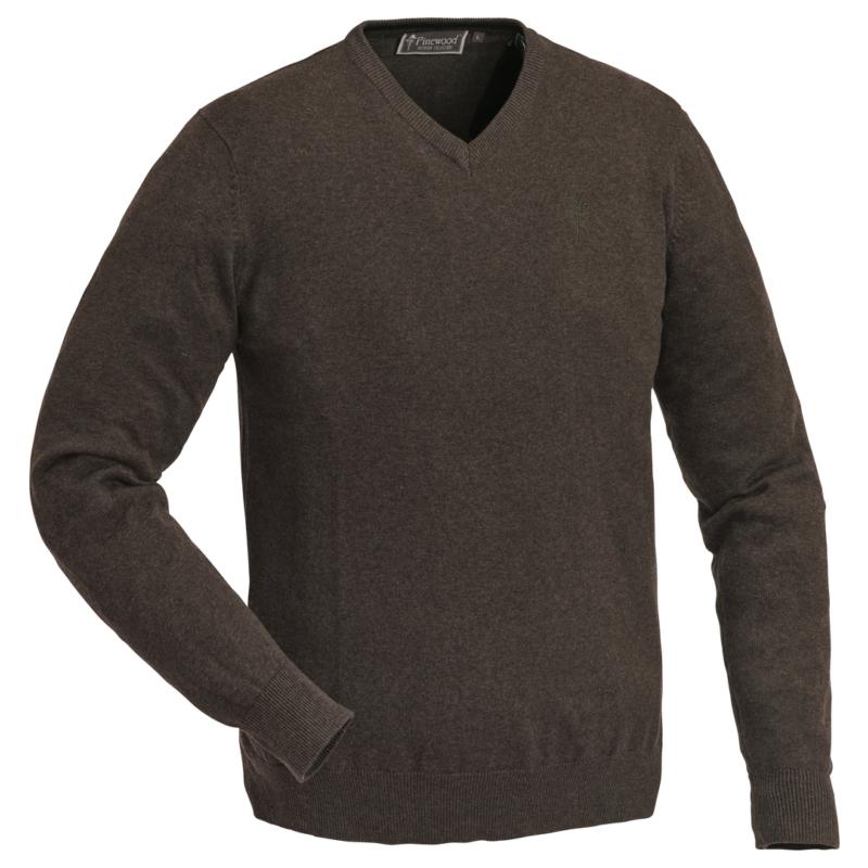 Pinewood pulóver - Finnveden V-nyakú Szvetter -barna