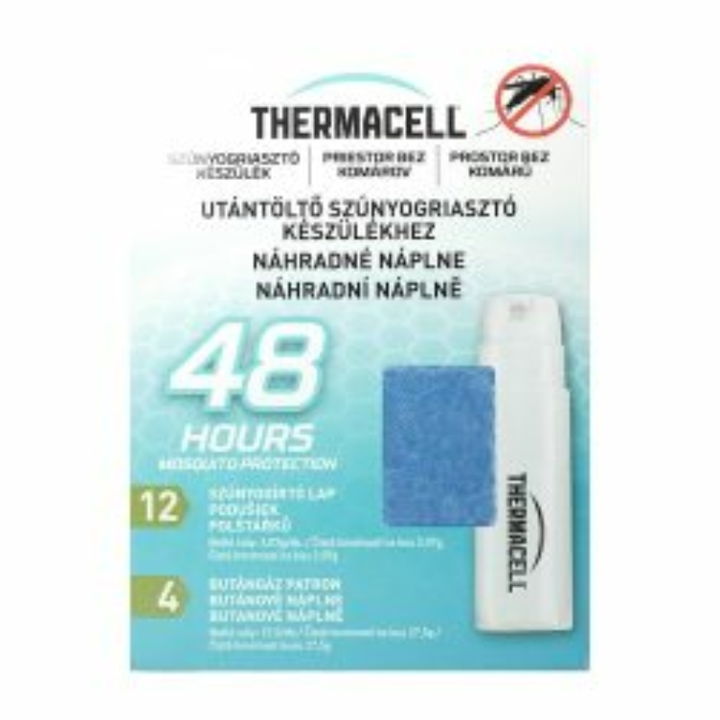 Thermacell 48 órás utántöltő pack (4 patron, 12 lapka)